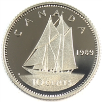 1989 Canada 10-cent Proof