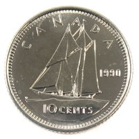1990 Canada 10-cent Brilliant Uncirculated (MS-63)