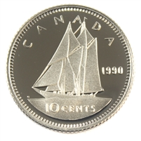 1990 Canada 10-cent Proof
