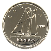 1990 Canada 10-cent Proof Like