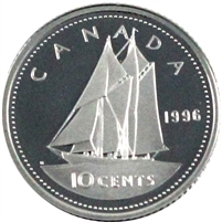 1996 Canada 10-cent Silver Proof