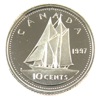 1997 Canada 10-cent Silver Proof