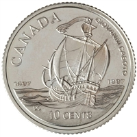 1997 John Cabot Canada 10-cent Silver Proof