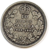 1998 (1908-1998) Antique Canada 10-cent Proof