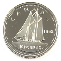 1998 Canada 10-cent Silver Proof
