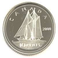 2000 Canada 10-cent Silver Proof