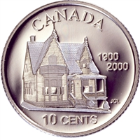2000 Canada Desjardins 10-cent Silver Proof_