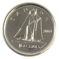 2004P Canada 10-cent Brilliant Uncirculated (MS-63)