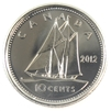 2012 Canada 10-cent Brilliant Uncirculated (MS-63)