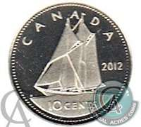 2012 Canada 10-cent (non silver) Proof