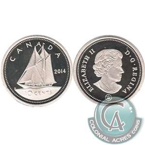 2014 Canada 10-cent Proof (non-silver)