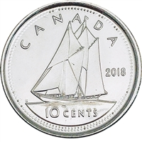 2018 Canada 10-cents Brilliant Uncirculated (MS-64)