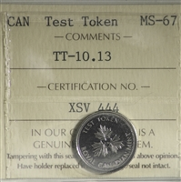 (2004) Canada 10-cents Test Token TT-10.13 ICCS Certified MS-67