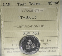 (2004) Canada 10-cents Test Token TT-10.13 ICCS Certified MS-66