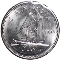 1984 Canada 10-cent Choice Brilliant Uncirculated (MS-64)