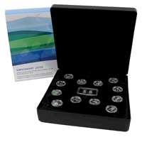 2007-2010 Canada 12-coin Vancouver Olympics Sterling Silver 25ct Set