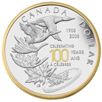 2008 Canada $1 Royal Canadian Mint Centennial SE Proof Sterling Silver