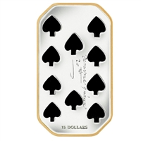 RDC 2009 Canada $15 Playing Card - Ten of Spades Sterling Silver (#3) Impaired