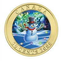 2008 Canada 50-cent Holiday Snowman Lenticular Coin