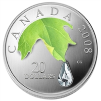 RDC 2008 Canada $20 Crystal Raindrop Silver Coin (TAX Exempt) Impaired