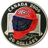 2009 Canada $20 Montreal Canadiens NHL Goalie Mask & Acrylic Stand Sterling Silver