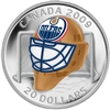 2009 Canada $20 Edmonton Oilers NHL Goalie Mask & Acrylic Stand Sterling Silver