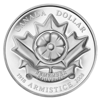2008 Canada Poppy Limited Edition Proof Sterling Silver Dollar