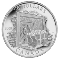 2009 Canada $20 Coal Mining Trade Silver Coin (TAX Exempt)