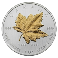 1988-2008 Canada $5 20th Anniversary Silver Maple Leaf (No Tax)