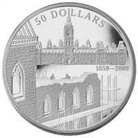 2009 Canada $50 150th Anniv. Construction of Parliament 5oz. Silver (No Tax)