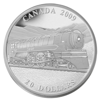 2009 $20 Great Canadian Locomotives - Jubilee Fine Silver (No Tax)