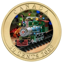 2009 Canada 50-cent Holiday Toy Train Lenticular Coin