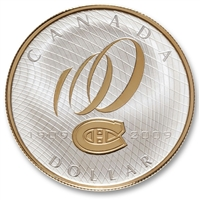 2009 Canada Montreal Canadiens 100th Anniversary Proof Sterling Silver Dollar (Residue)