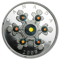 2009 Canada Blue Version $20 Crystal Snowflake (TAX Exempt)