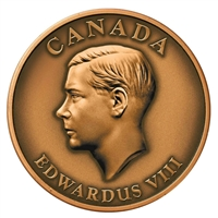 2009 Canada King Edward VIII Copper High Relief Medallion