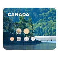2010 Canada Canoe 6-coin Collector Card