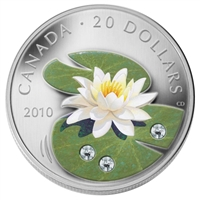 2010 Canada $20 Swarovski Crystal - Crystal Water Lily (No Tax)