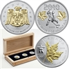 RDC 2010 Canada $5 Vancouver Olympic 3-coin Gold Plated Silver Set (No Tax) Worn Box