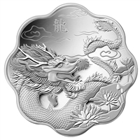 2012 Canada $15 Lunar Lotus Year of the Dragon Fine Silver (TAX Exempt)