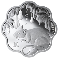 2020 Year of the Rat Lunar Lotus Fine Silver