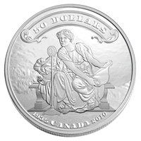 2010 Canada $50 75th Ann. of the First Bank Notes 5oz Silver (No Tax)
