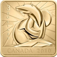 RDC 2010 Canada $3 Wildlife Conservation - Polar Bear Sterling Silver (Impaired)