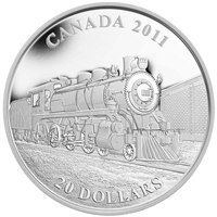 RDC 2011 $20 Great Canadian Locomotives - D10 Fine Silver (No Tax) - Impaired