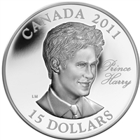 2011 Canada $15 Prince Henry (Harry) of Wales UHR Sterling Silver