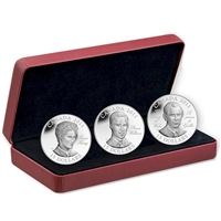 2011 Canada $15 Continuity of the Crown Sterling Silver 3-Coin Set