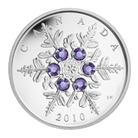 2010 Canada $20 Tanzanite Crystal Snowflake Fine Silver (No Tax)