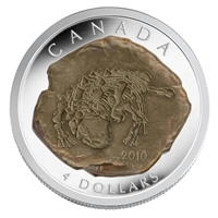 2010 Canada $4 Dinosaur Collection - Euoplocephalus Fine Silver (No Tax)