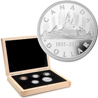 2010 Canada's Voyageur Dollar Anniversary Limited Edition 5-coin Proof Set