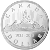 1935-2010 Canada $1 Voyageur Limited Edition Proof Sterling Silver Dollar