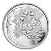 2010 Canada $20 Moonlight Crystal Pinecone Fine Silver